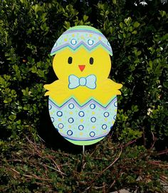 Easter chick yard decoration Springtime Yard by FlowerPowerShowers