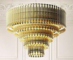Midtown Lobby Brass Chandelier