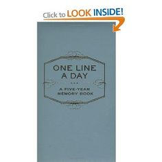 One Line a Day: A Five-Year Memory Book...I want one for each of my boys. Simple task to reflect on at the end of the day. Capture funny moments, proud moments, family memories.