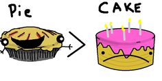 I love cake. Cake is wonderful. But it is too easy to get caught up in the idea of cake. When you compare the data, it is clear that pie...