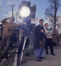 Stanley Kubrick and crew on the set of Lolita
