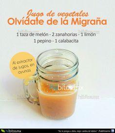 BATIDO CONTRA LA MIGRAÑA Healthy Juices, Healthy Smoothies, Healthy Drinks, Jugo Natural, Salud Natural, Fruit Drinks, Diet Drinks, How To Make Drinks, Healthy Shakes