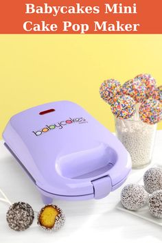 Non-Stick Baking Plates Make 9 Cake Pops Power Light Latching Handle and Non-Skid Rubber Feet Convenient Cord Wrap. Great Desserts, Delicious Desserts, Yummy Food, Cooking On A Budget, Cooking Tips, Baking Pan Sizes, Cake Pop Maker, Sugar Frosting, Popsicle Molds