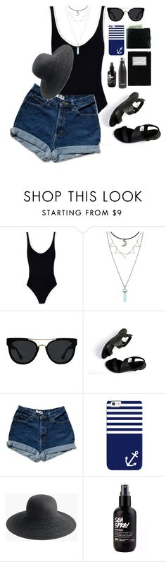 """#3"" by chica-bunny ❤ liked on Polyvore featuring Solid & Striped, Quay, Casetify, J.Crew, S'well, Summer, black, beach and hottropics"