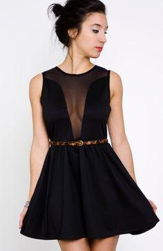 Lulu Black Mesh Dress
