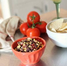 Grilled Corn & Black Bean Salsa for CINCO de MAYO!!!
