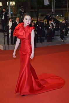 Zhao Tao at The Handmaiden premiere, Cannes 2016