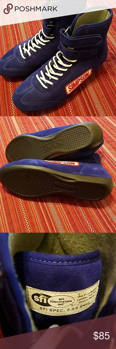 NEW........Simpson racing shoes Never worn.  Brand new. Good for car orany kind of racing. Made of suede.. Shoes