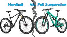 Here's everything you need to know about hardtail and full suspension mountain bikes