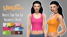 Burrito Sims Basic Crop Top Recolored by simsilla at SimsWorkshop
