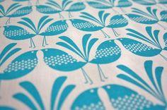 Belbird Design - Hand Screen Printed Fabric by Melissa Bombardiere. 55%linen/45% cotton. 50x50cm. Australia.