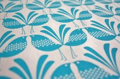Belbird Design - Hand Screen Printed Fabric by Melissa Bombardiere. 55%linen/45% cotton. 50x50cm. Australia.