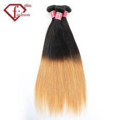 128.00$  Buy here  - 4PCS 7A Brazilian Ombre Hair Extensions Two Tone Silk Straight Human Hair Weave Straight Ombre Hair Women Remy Hair Weft