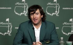 """The left-handed guy with the shaggy hair from Bagdad, Florida, who never had a golf lesson in his life, has no swing or drive coach, and with the unlikely name of """"Bubba"""" is the 2012 Masters Tournament winner. (Go Bubba! Pga Golf Tournament, Masters Tournament, Bobby Bowden, Masters Golf, 2014 Masters, Robert Griffin Iii, Bagdad, Golf Lessons, New Dads"""
