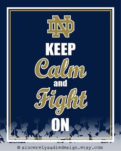University of Notre Dame Fighting Irish by SincerelySadieDesign, $9.95