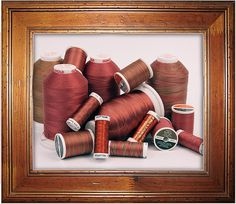 Color of the Year for 2015 - Marsala. Sulky Cotton Thread: Medium Burgundy. Sulky Blendables Cotton Thread: Caramel Apple