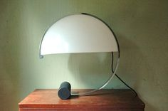 Bauhaus Art Deco Curved Chrome And Cast Iron Table Lamp - Donald Deskey Era Desk Lamp on Etsy, $475.00