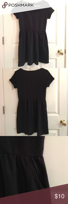 Forever 21 t-shirt skater skirt dress Skater skirt dress with short sleeves and pockets. Elastic band for the skirt for a fitted look (pic 5). Soft cotton- perfect casual dress for all year around! Good used condition. Forever 21 Dresses