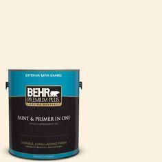 BEHR Premium Plus 1-gal. #M230-1 Sweet Coconut Milk Satin Enamel Exterior Paint