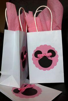 Minnie or Mickey Mouse Treat Goody Bag by TaylorFaithDesign