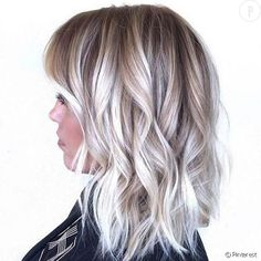 The balayage hair and the short blonde hairstyles are the hottest topics in this year! You can see the balayage hair everywhere now. Ombre hair is trendy. Balayage Blond, Baylage Blonde, Blonde Ombre, Bayalage, Blonde Lob, Ash Ombre, Ice Blonde Hair, Light Ombre, Short Balayage