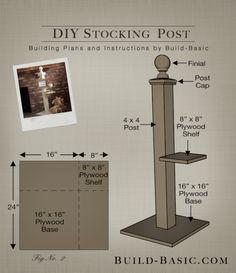 Build a DIY Stocking Post by Build Basic - @BuildBasic www.build-basic.com