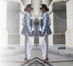 Blogged: Baby blue meets silver and white Baby Blue, Silver, Money