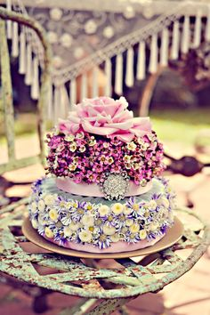 Flower Cake by True Bliss Florals