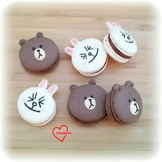 Loving Creations for You: Brown and Cony Macarons