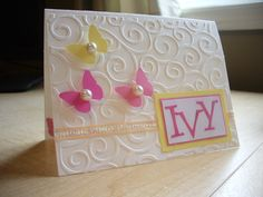 Baby Shower Card - i would use umbrellas instead of butterflies. . .