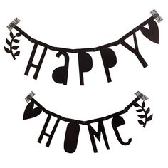 A LOVELY LITTLE COMPANY - DIY BLACK LETTER BANNER