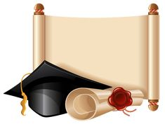 Diploma and Graduation Cap PNG Clipart Picture