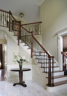 Dramatic Entry Way with Staircase - traditional - staircase - new york - by Creative Design Construction, Inc.