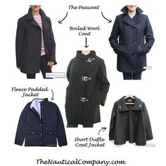 Women's winter coats when you live by the sea #nauticalfashion #coast