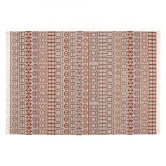 GAN - Kilim Naidu Teppich  - weiß/rot/200x300cm