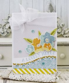 A Lovely Hello Card by Melissa Phillips for Papertrey Ink (March 2015)