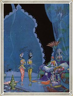 """They Danced Before Me with Great Skill"" illustration by Virginia Sterrett from A Thousand Nights and A Night"