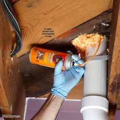 """Seal Around Pipes and Wires - Seal small cracks around pipes and wires with special """"red"""" high-temperature silicone caulk. Fill larger openings with flame-resistant expanding foam. Close openings around chimney flues or other large openings by nailing sheet metal over them and sealing the edges with caulk. Sealing between the basement and upstairs will help prevent the spread of fire from the basement to upstairs. It will also save energy and prevent sound transfer from the basement to the…"""