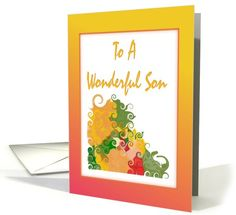 Miss You-For Son-Autumn card
