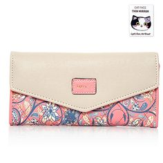 おすすめ BIG SALE  40% OFF  Woolala Women Elegant Envelope Wallet Floral Trifold Clutch Long Purse for Party Shopping Gift Pink