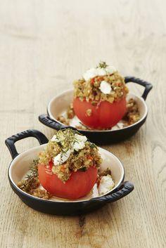 Vegetarische tomaat met quinoa en geitenkaas