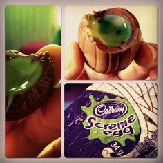 Cadbury Screme Eggs.  I have never seen these, but I WANT THEM!