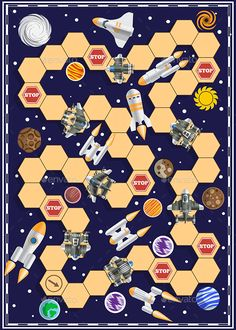 Buy Space Race by CaryMc on GraphicRiver. A board game. Board Game Template, Printable Board Games, Space Party, Space Theme, Games For English Class, Games For Kids, Diy For Kids, Fun Galaxy, Diy Pour Enfants