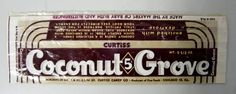 Vintage Coconut Grove Candy Bar Wrapper