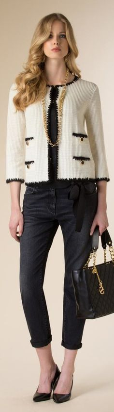127cb50e324cb Contrast Crocheted Trimmed Jacket