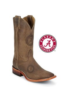 Men's Alabama Brown Cowhide Branded Boot: http://www.countryoutfitter.com/products/27456-mens-alabama-brown-cowhide-branded-boot