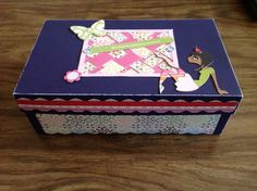 One of the entries to the shoebox decorating contest. The prize is a pair of Delta tickets