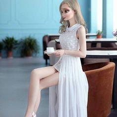elsa con vestidos elegante