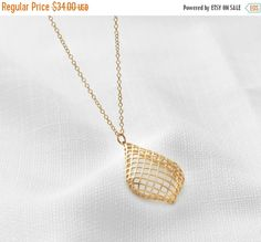 CYBER MONDAY SALE Gold Long Necklace Gold necklace by HLcollection