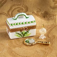 Limoges Lily of the Valley Vanity Box with Mirror The Cottage Shop